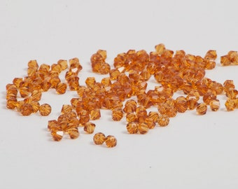 4mm November Birthstone Crystal Beads - 100 Count