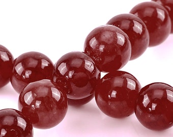 99 Agate Beads - WHOLESALE - Red Agate  - 3 Strands - Ships IMMEDIATELY from California - B747a