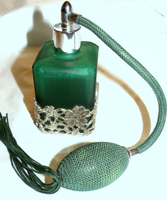 Vintage Spray Atomizer Perfume Bottle Green by ...