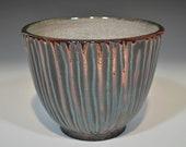 Striped Raku Bowl by John Turner