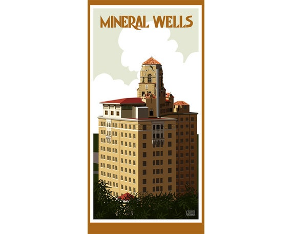 Mineral Wells, Texas Travel Poster