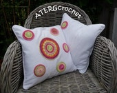 Set of two covers with 'multicolored crochet circles' by ATERGcrochet