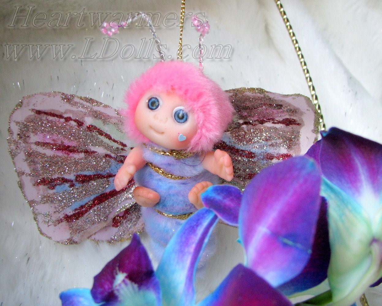 Cute Baby Fairies: Purple Pink Lavender Butterfly Fairy Cute Baby By Larysadolls