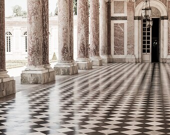 Versailles Paris Photography - Le Grand Trianon, Sepia French Home Decor, Elegant Wall Art