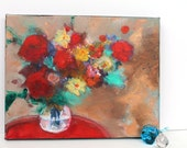 """Reserved for Brigitta Floral Still Life Abstract Art Contemporary Modern Art Fall """"Autumn Bouquet"""""""