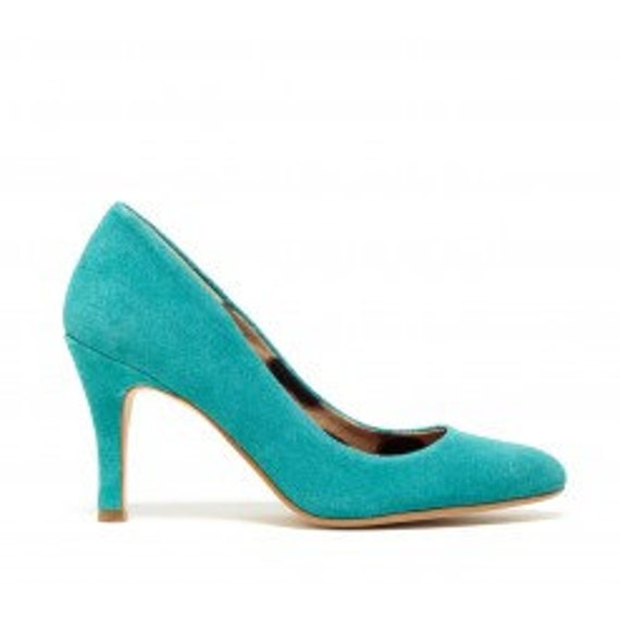 Teal blue wedding shoes, Listing reserved for Jessica Pack