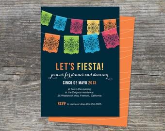 Picado Fiesta Invitation, Mexico, Paper Banner (digital)