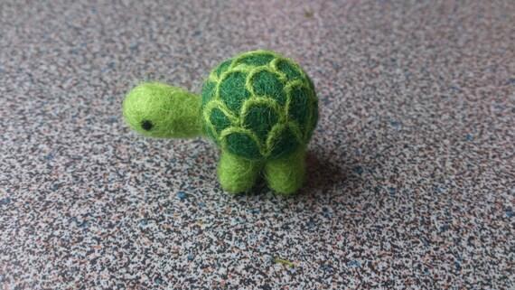 Needle felted miniature turtle gift under 20