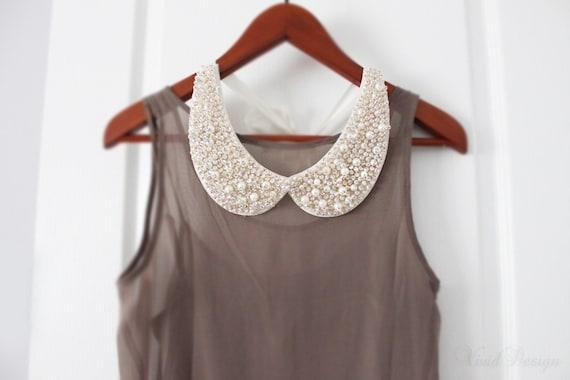 Golden Elegance Pearl Collar Necklace