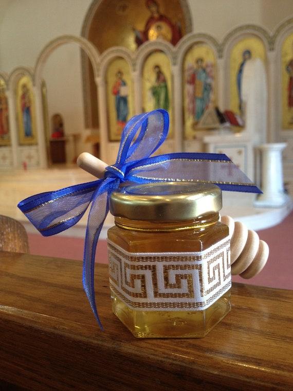 "24 Qty ""Greek Baby"" honey shower Baptismal Bomboniere favor gift"