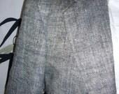 70s  %100 SILK grayish blue  organic designer classy blazer, suit coat 42r 44r b51