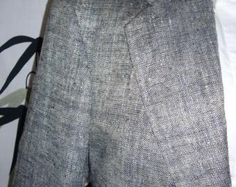 70s  %100 SILK grayish blue  organic designer classy blazer, suit coat 48r  b51
