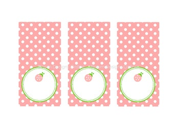 Printable Food Labels- Love Bug by Bloom