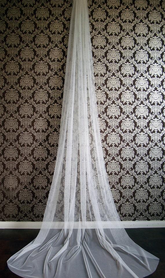 Modern Couture Soft Bridal Veil Chapel Cathedral Fingertip Length by IHeartBride V-1T Evangelina Italian Tulle Drape Veil Ivory,Blush,White