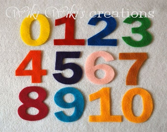Felt Numbers- Pick your colors