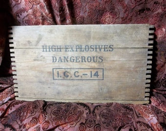 Antique Wood Dynamite Crate Front Plate