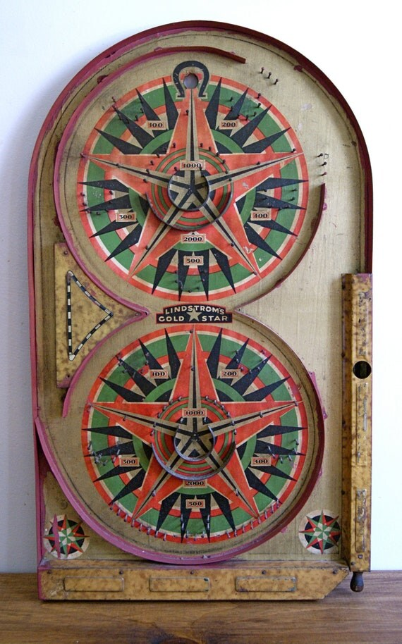 1934 Lindstrom's Gold Star Pinball Game