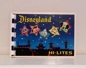 Vintage Disneyland Hi Lites Pictorial Souvenir Booklet Postcard Magic Kingdom Mickey Mouse  FREE USA SHIPPING