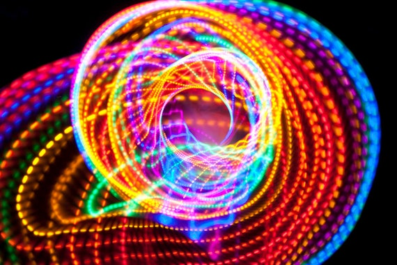SALE price - Strobing led Hula Hoop - The Fusion -  Free Shipping