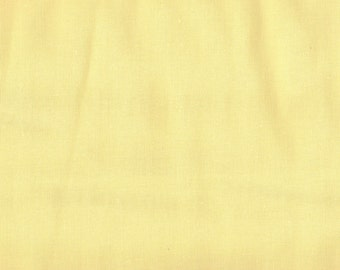 Pale Yellow Fabric, Solid Yellow Fabric, Yellow Fabric, 1 Yard Fabric, 01007