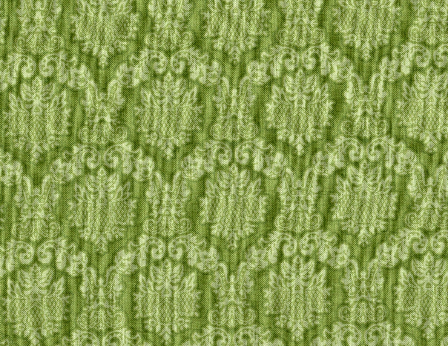 Amanda by blank quilting green fabric floral fabric shabby for Green fabric
