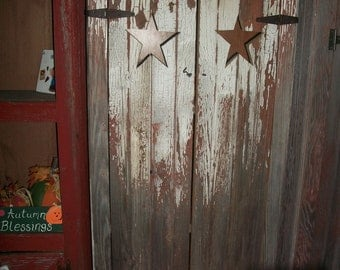 Primitive barn wood cabinet