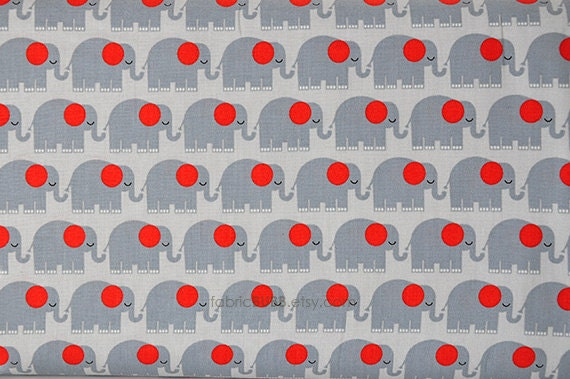 Elephants in Gray, Bungle Jungle by Tim and Beck for Moda Fabrics, One Yard, 1 Yard