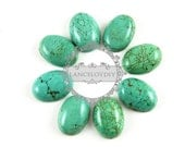4pcs 13x18mm oval blue turquoise cabochon beads,gemstone pendant cabochon stone beads set for earrings,rings,necklace 4120026