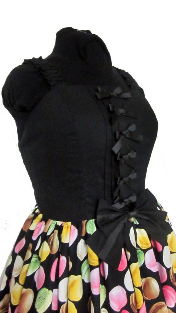 Lolita Dress - I Love Macarons JSK- Shirred back Size XL