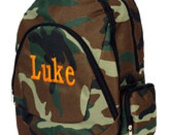 Boys Embroidered Backpack Bookbag