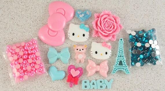"SALE - Petit Deco ""Candy Candy "" Pink / Blue Kit"