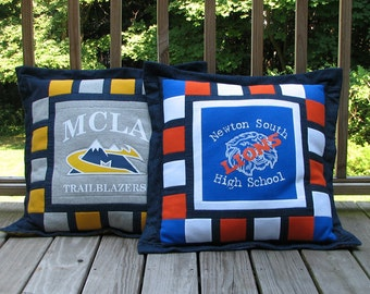 T-shirt Pillow, School Logo Pillow for Back to School