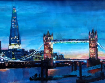 London Tower Bridge with The Shard - Limited Edition Fine Art Print