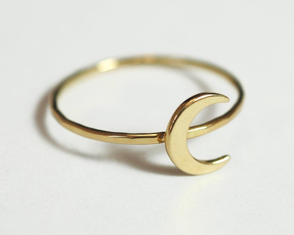Full Moon Ring Etsy