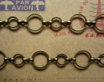 1meter(3.28foot) antique bronze beautiful metal chain R21498