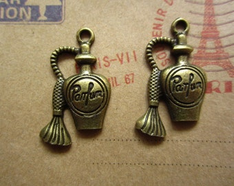 10pcs 30x15mm antique bronze bottle charms pendant C2830
