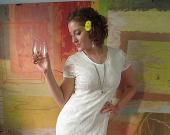 MESH DRESS )( Off-White Lacey Dress )( 90s
