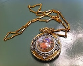 Faux Watch pendant and necklace