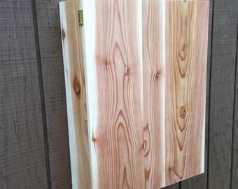 vintage cedar wood bathroom Medicine storage linen cabinet