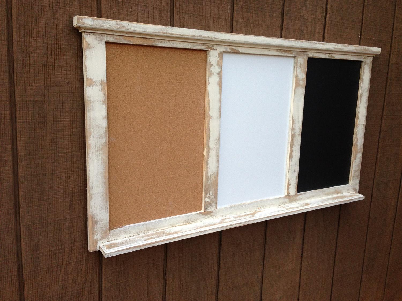 Dry Erase Calendar And Cork Board Combo : Bulletin combo board chalkboard dry erase by