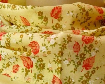 Yellow Scarf, Sari Scarf, Silk Scarf