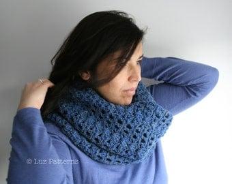 Crochet pattern, girl women men lace cowl pattern, scarf crochet pattern, crochet cowl pattern (123) snood pattern INSTANT DOWNLOAD