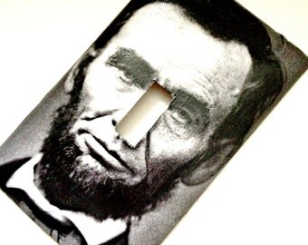 Single Light Switch Plate Cover--Abraham Lincoln