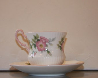 Vintage tea cup and saucer by Queens