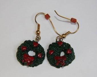 Christmas Wreath earrings