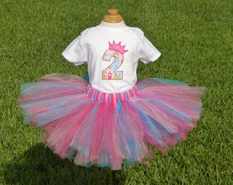 Custom Princess Birthday Onesie or Shirt AND tutu set