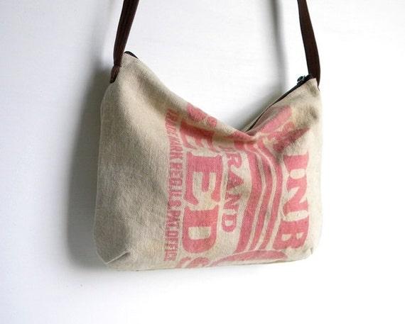 Grain Sack Cross Body Hobo Bag