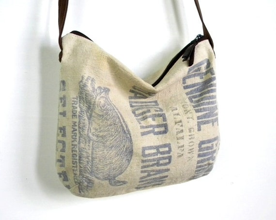 Badger Grain Sack Cross Body Hobo Bag