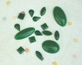Vintage Jade Green Flatback Cabochon in Six Sizes