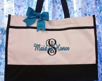 4 Personalized Tote Bag Wedding Party Bridemaid Gifts
